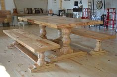 Creative Home Decor Ideas For Any Home Custom Dining Tables, Dining Table With Bench, Pine Table, Dining Room Table, Table And Chairs, Fixer Upper, Harp Design Co, Inspired Homes, Farmhouse Table