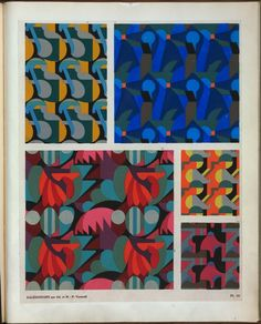 [Five abstract motifs.] From New York Public Library Digital Collections.