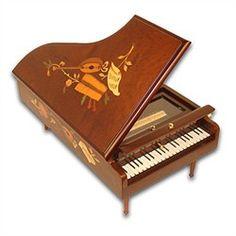 miniature porcelain pianos | Amazing Grand Musical Piano Jewelry Music Box, 3.72 Musical Movement