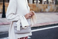 Street style with Culotte ad Bell Sleeves Knit  www.fashiioncarpet.com  #streetstyle #cozylook #proenzaschoulerps11