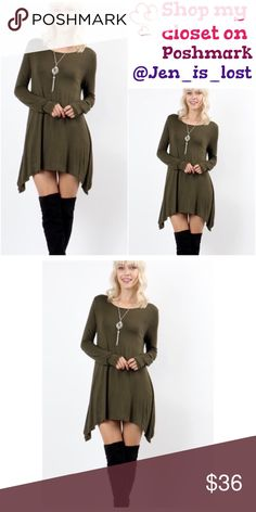 🎄BOGO 50% OFF🎄Olive Long Sleeve Tunic