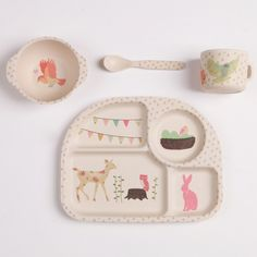 "Image of Bamboo Baby Set / Coffret bébé en bambou ""Tea Party"""