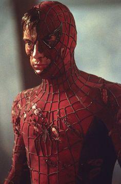 Tobey Maguire in Spider-Man Spiderman Sam Raimi, Spiderman Batman Superman, Spiderman 2002, Spiderman Movie, Amazing Spiderman, Marvel Comics, Marvel Avengers, Spider Man Trilogy, Spider Verse