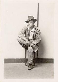 man farmer 1930s portrait vintage male working class photo photograph