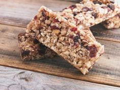 There are many variations on traditional British flapjack; enjoy this one stacked with dried fruits, nuts and seeds. It is super-healthy too.