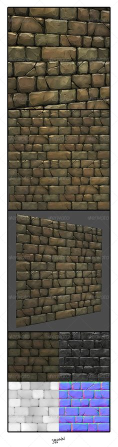 Stone Wall Tile 01 - 3DOcean Item for Sale
