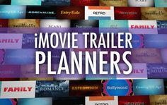 Download fillable PDFs to help in planning an iMovie trailer project. Also watch example trailers made by students and teachers, and read tips for making movie trailers.