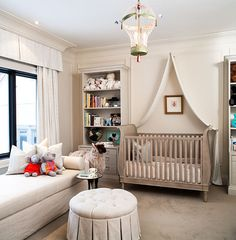An elegant and classic nursery. I love the design of this room. It looks welcoming and calming.