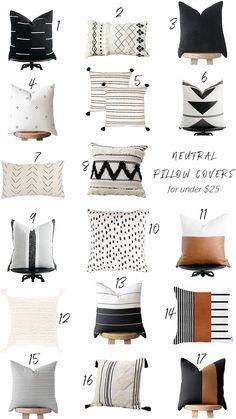 home design decor Neutral Pillows, Boho Pillows, Modern Throw Pillows, Decorative Pillows For Bed, Throw Pillow Covers, Decor Pillows, Couch Pillows, Designer Throw Pillows, Decorating Rooms