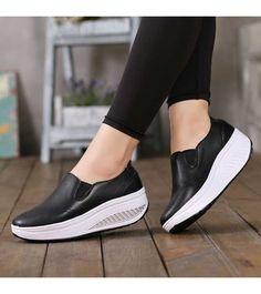 4ac5a33a65 Women's #black slip on #rocker bottom sole shoe sneakers for winter,  lightweight,