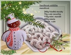 Vanilkové rohlíčky - mandlové