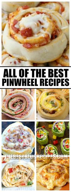 If you need a fun appetizer or a kid-friendly dinner, this list of the best pinwheel recipes is just Finger Food Appetizers, Appetizers For Party, Appetizer Recipes, Snack Recipes, Cooking Recipes, Appetizer Dinner, Finger Foods, Appetizer Sandwiches, Vegetarian Appetizers