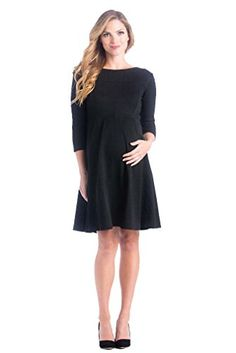 ee7b6b7becad7 Lilac McCall Fit And Flare Maternity Dress Black Large >>> You can get more  details by clicking on the image.Note:It is affiliate link to Amazon.