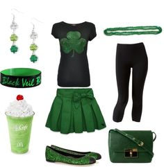 """""""Greened Up for St. Patrick's Day Skirt Outfit"""" by marissa-anne-weddle on Polyvore"""