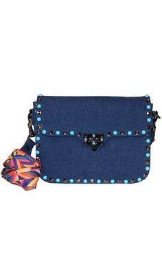 c80ba9438 Boutique Handbags Online | Buy Designer Bags | Paula & Chlo. Denim Shoulder  BagsStudded ...
