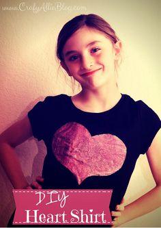 DIY Heart Shirt #valentines #day #t-shirt