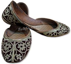 Women's khussa shoes are available in various colors and designs. We have women's slippers and regular khussa shoes. These Pakistani/Indian khussa are made with soft leather that is quite comfortable. khussa is available in various colors. Visit Here http://www.786shop.com/Shoes/womens-khussa