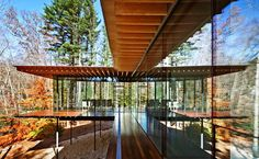 Glass/Wood House, New Canaan, Connecticut, by Kengo Kuma and Associates | http://www.designrulz.com/architecture/2012/11/glasswood-house-new-canaan-connecticut-by-kengo-kuma-associates/