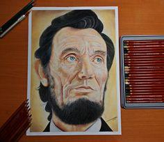 Abraham Lincoln  (Dibujo con Lapices de color) por JairMB - Retratos | Dibujando.net
