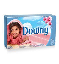 Downy® April Fresh® Fabric Softener Dryer Sheets.