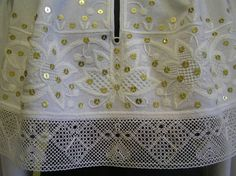 Estonian folk embroidery by Kaili Rahvarõivad; Kuusalu; linen whitework and lace