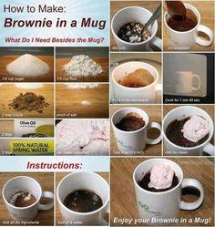 brownie in a mug food desert recipe brownies recipes ingredients instructions desert recipes chocoalte brownie recipes