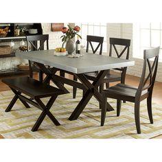 Liberty Furniture Dayton 6 Piece Trestle Table Dining Set | from hayneedle.com