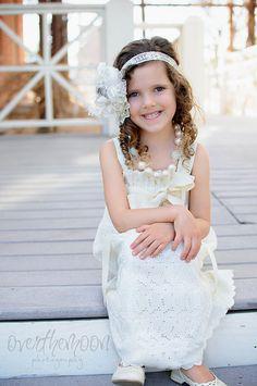 Ivory Fancy Eyelet  The Perfect Flower Girl by abushelandapeckbiz, $43.00