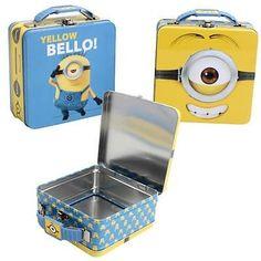 bb36ff6484fb Despicable Me Minion Mini Tin Tote Lunch Box Minion Lunch Box