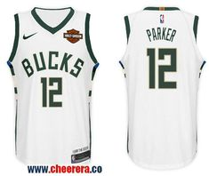 3a0cf2263 Men s Nike NBA Milwaukee Bucks  12 Jabari Parker Jersey 2017-18 New Season  White