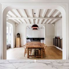 """Today on Yatzer.com >>> Artfully restored by Joan Arnau Farràs and Carme Muñoz Ramírez of Spanish studio @05am__arquitectura, """"Maison à Colombages"""" is a late 19th century house for a family of four near #Paris. Photography by Adrià Goula Sardà. https://www.yatzer.com/maison-a-colombages-05am-arquitectura #yatzerized #interiors #design #france"""
