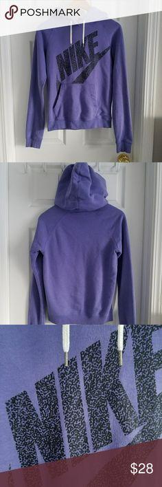 Nike Pullover Purple Hoodie Great condition! Super soft purple Nike pullover hoodie. Size XS Nike Tops Sweatshirts & Hoodies