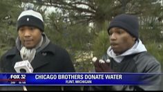Two Brothers Drive From Chicago To Flint To Deliver Clean Water | La'Mont and Nate Williams donated roughly 100 cases of water.