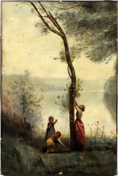 JEAN BAPTISTE CAMILLE COROT. OIL ON CANVAS