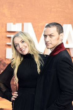 Joy McAvoy and James McAvoy attend the European premiere of 'The Martian' at Odeon Leicester Square on September 24, 2015 in London, England.