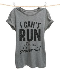 This Heather Gray 'I Can't Run I'm A Mermaid' Tee - Plus Too is perfect…