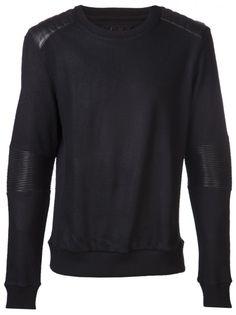 JUUN J - Leather Panel Sweater - JC3C438P35 BLACK - H. Lorenzo