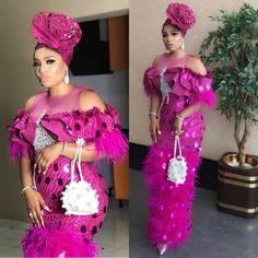 Latest Aso Ebi Styles For the Weekend Nigerian Lace Styles, African Lace Styles, African Lace Dresses, Latest African Fashion Dresses, African Print Fashion, Ankara Fashion, Ethnic Fashion, African Wedding Attire, African Attire