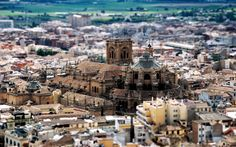Tilt-Shift photography on a Spanish Cathedral