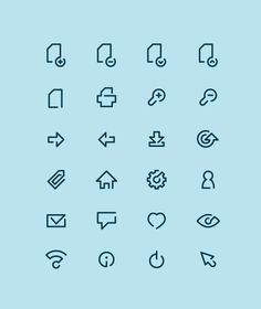 Line icons by Tomek Kowalik, via Behance