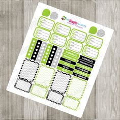 Direct Sales Planner Kit: Green, Black and Silver | Erin Condren Life Planners, Plum Paper, Filofax, Scrapbooking, Calendars