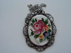 Handmade Cross stitch Necklace
