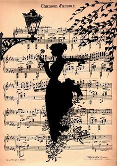 Silhouette of dancers on The Charleston music? Children on a kid's song?