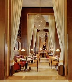 CUT Restaurant at 45 Park Lane in London designed by Thierry Despont