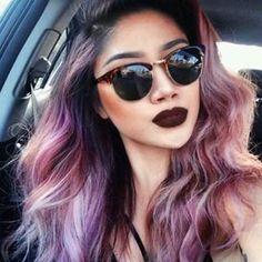 Tente encontrar uma combinação de cabelo e maquiagem mais legal. TENTE. | 23 pessoas que simplesmente arrasam de batom marrom