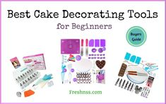 9 Best Cake Decorating Tools for Beginners, Plus 2 to Avoid Buyers Guide) Gluten Free Recipes For Kids, Vegan Baking Recipes, Vegan Dessert Recipes, Edible Printer For Cakes, Best Edibles, Rolling Fondant, Icing Tips, Easy Cake Decorating, Fondant Icing