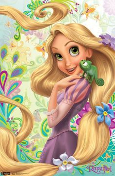 Rapunzel | Tangled - Rapunzel Chameleon 22x34 Movie Poster