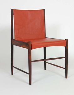 Sergio Rodrigues; Rosewood and Leather 'Cantu' Chair, 1950s.