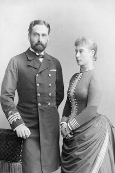 Prince Louis of Battenberg and wife Princess Victoria of Hesse-Darmstadt, later Marchioness of Milford-Haven
