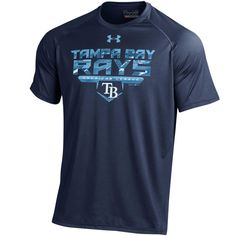 low priced 45d31 8f526 MLB Tampa Bay Rays Under Armour Tech Performance T-Shirt - Navy Baseball  Fight,